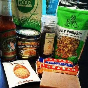 larabar, giveaway, justin's nut butter, better than bouillon, eden organic, alder's salt, just soap, melinda's hot sauce